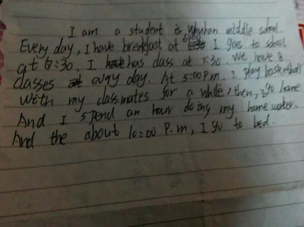 用英语写一篇作文60词左右