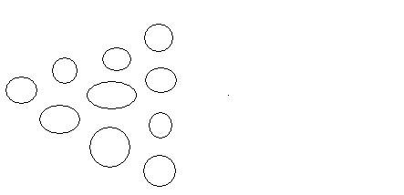 移动三个圆圈,使三角形的方向右!图画的比较乱 不过是