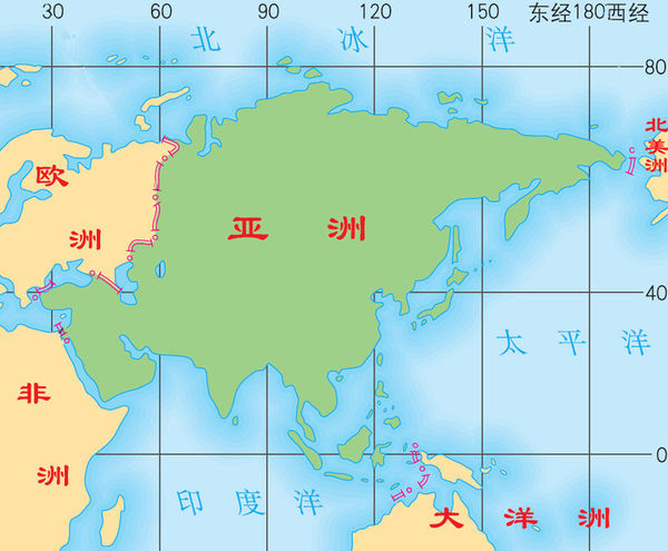 亚洲地形囹�b���_从海陆位置看,我国位于()a.欧洲西部,大西洋东岸b.