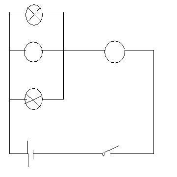 在图中的o里填上适当的电表符号,当电键闭合时电路能正常工作,并画出