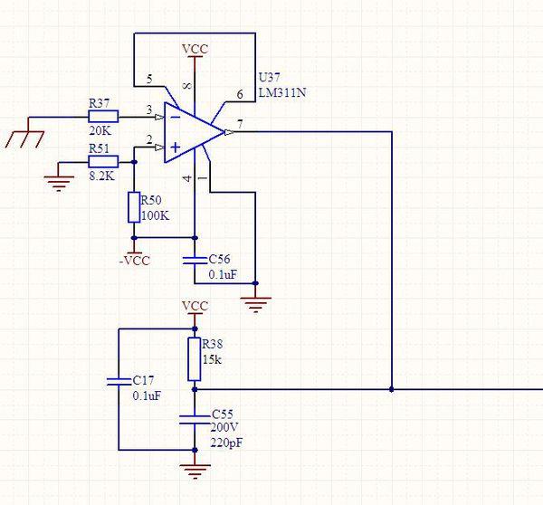 电压比较器lm311输出问题!