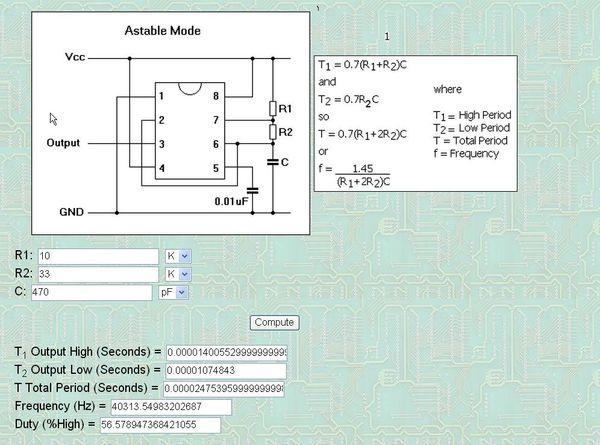 ne555方波输出振荡电路中的电阻和电容起什么作用?