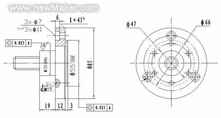 给一张cad图纸,怎么跟具它加工零件,上面各个符号表示