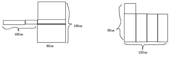 正方形的无盖长方体),比较两种铁皮焊接成铁桶后的装水情况,结果应该