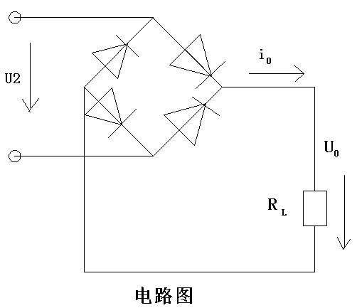 单相桥式整流电路如图,电源电压有效值u2=30v,负载电阻rl=2kΩ,试求