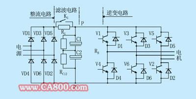 变频器电路这个电路上的ks和rs的作用是什么,c1和c2串联和并联除了