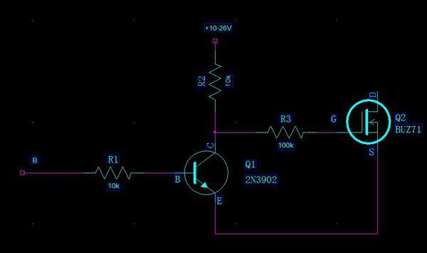 三极管开关电路如下图示:求r1,r2,r3这三个电阻的取值和计算方法实现q
