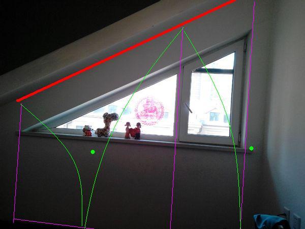 三角形的窗户,如何做窗帘