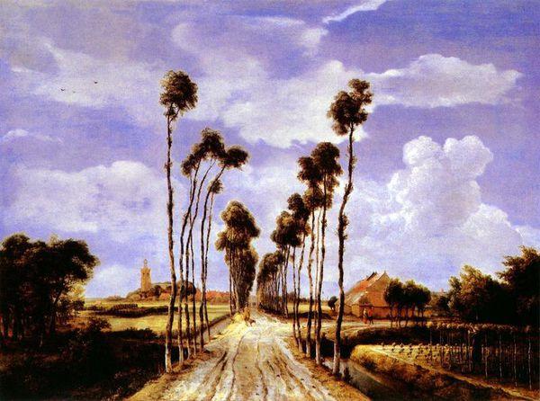 霍贝玛(meindert  hobbema  1638.10~1709.图片