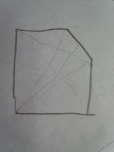 画一条线变成两个三角形怎么画