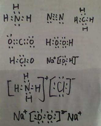 1)写出下列微粒的电子式 氨气 n2 甲烷分子 co2 h2o2 hclo naoh 氯化图片