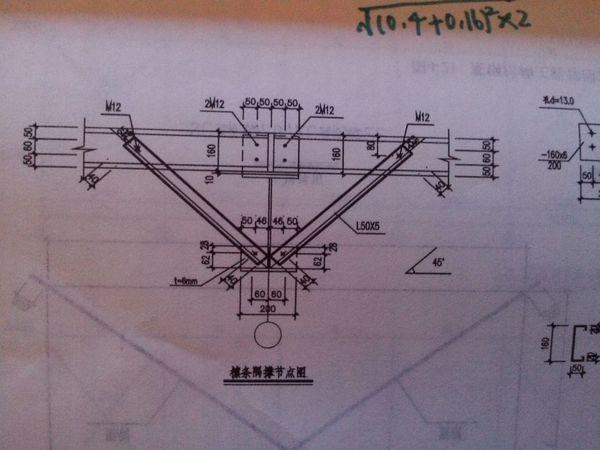 钢结构图中隅撑的长度怎么计算
