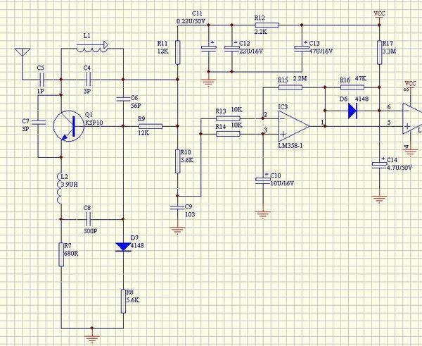 超再生检波电路 rf 无线遥控器