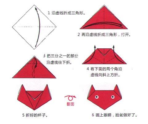 怎样用纸折小动物