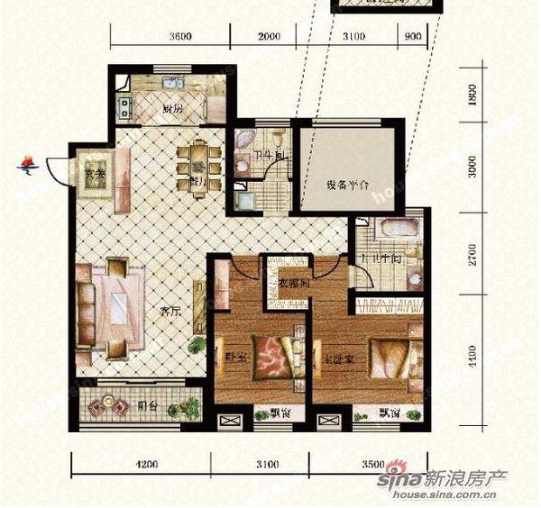 l型卧室,1图是房间,2是尺寸,1人住,摆放床 衣柜 书桌图片