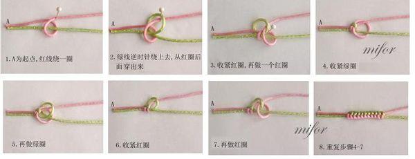 金刚结手绳怎么编织 要几条绳子