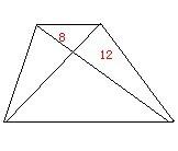 如图所示,梯形abcd中,两条对角线将梯形分成四个三角形.图片