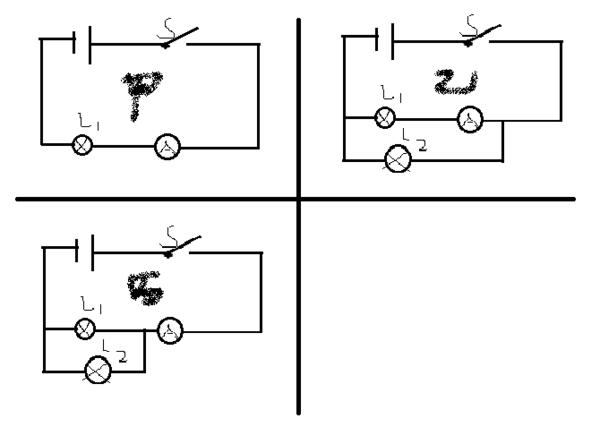 如图所示电流表是测量电路中哪一部份或哪个用电器的电流