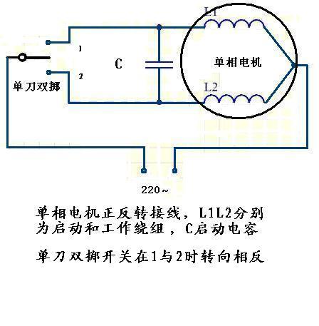 单相电机不就是接家庭用电220v吗,接倒顺开关的时候哪来的第三根线?