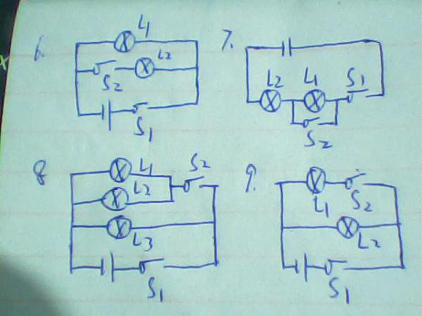 解题思路: 本题是电路图的画法,解答本题的关键是分析清楚实物图的连