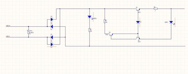 帮忙分析下电路图,右边短路后三极管电流走向