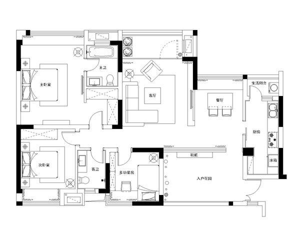 这样的房屋平面设计图,需要多少平来完成合适?