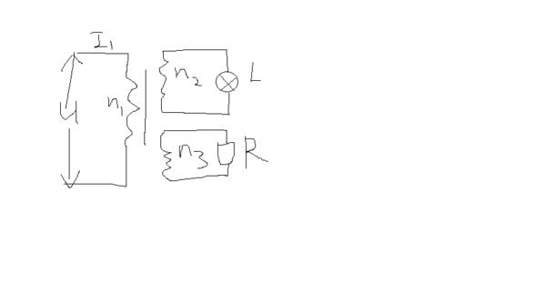 变压器的原线圈1接到220v的交流电路上,副线圈2的匝数