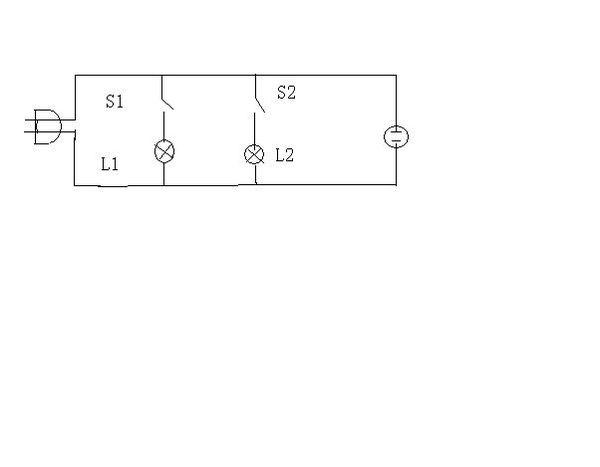 与《求一个台灯电路图(家庭电压),开关1控制灯泡1,开关2控制灯泡2