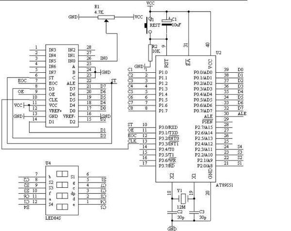 """28.13. 系统板上硬件连线 a)         把""""单片机系统""""区域中的p1."""