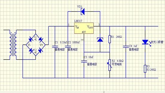 lm317直流稳压电源电路