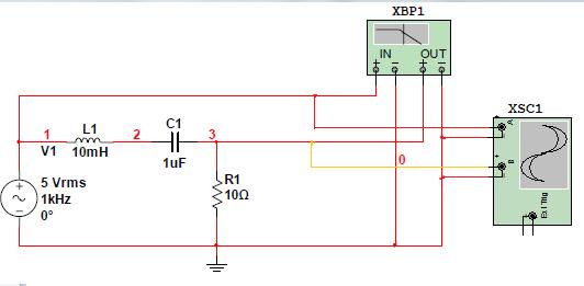 谐振电路,在不谐振的情况下,为什么示波器的通道a测得的电压高于5v?