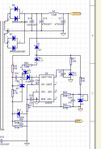 请问两个tl431和一个lm358组成的恒流电路,是怎么工作