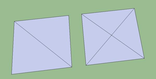 然后用这两块正方形分出的四块图形拼出一个正方形图片