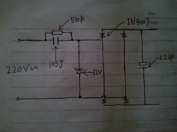阻容降压的电路问题!想问问我话这个电路图可用吗?