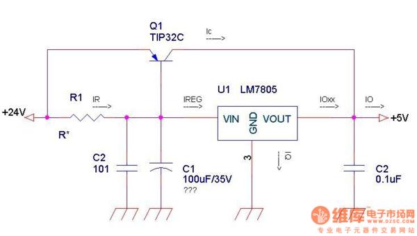 lm317扩流电路请问lm317扩流可以使用场效应管吗?