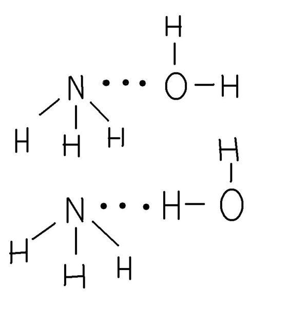 氨水的结构式是哪个第一个结构是武汉大学无机课本的