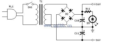 求个功放电源板电路图我想做个功放电源板,手头有几个