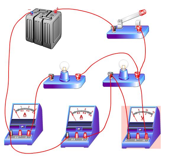请设计一个电路图 两盏电灯l1 l2 当开关闭合时,可以同时测出l1 l2的