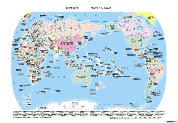 世界地图 撒哈拉沙漠