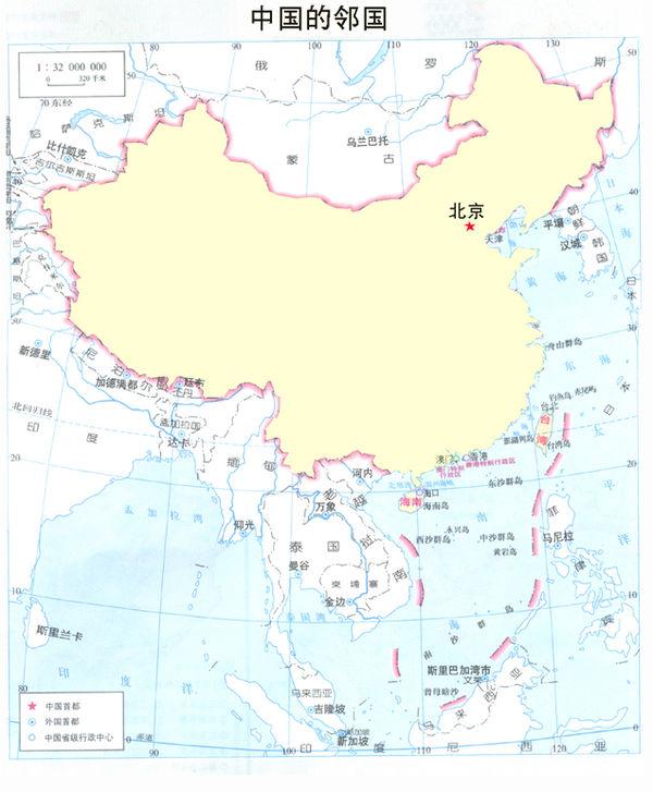 1,以中国为基准的话 东边,西边.南边,北边.都有什么国家包括 例如 美国是中国的南北 这样似的.详细点多说几个国家