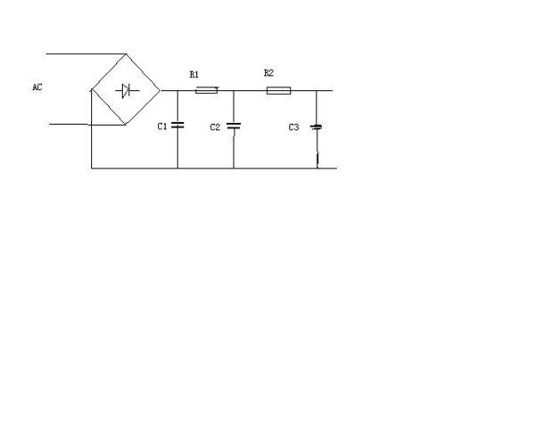 你可以在这个阻容滤波电路后面再加一级阻容滤波,电阻要根据电流和