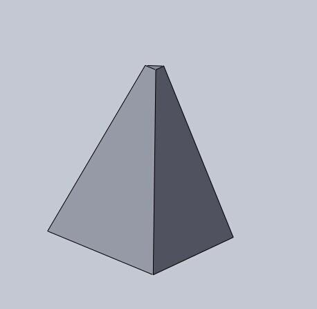如何用solidworks画立体三角形(三角体)