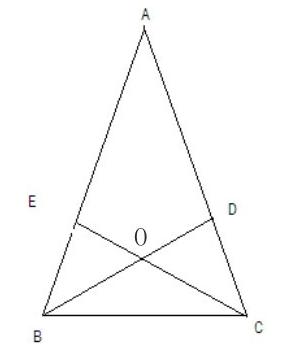 如图,锐角三角形abc的两条高bd,ce相较于点o,且ob=oc图片