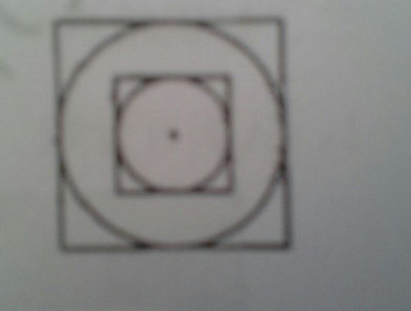 如图,两个同心圆的周长差是18.84厘米,两个正方形的周长差是多少厘米?