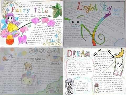 英语手抄报内容和版图五年级 - 微思作业本