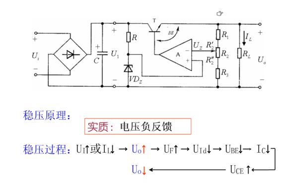 关于串联型稳压电路的分析问题