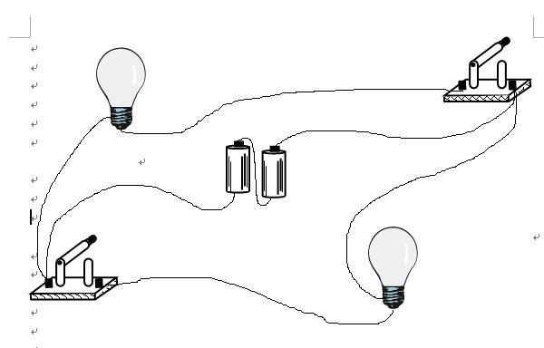电流电路实物图的接线将图中的两个灯泡组成并联电路