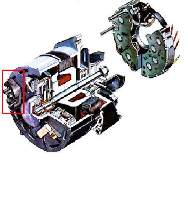 汽车发电机转子磁爪有没有磁性