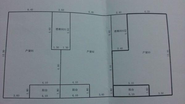 房产证上的房屋分户平面图面积怎么计算?图片