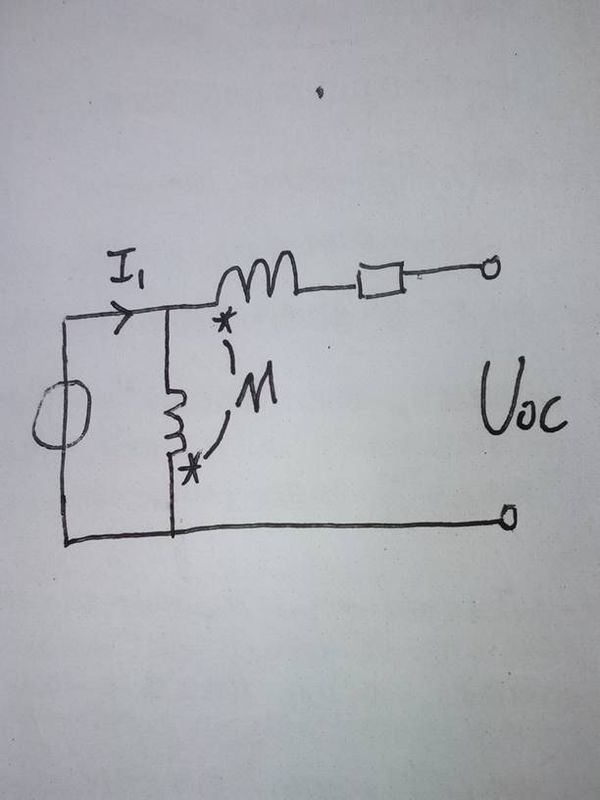这个电路图中的两个互感电压分别是多少?oc两端电压是